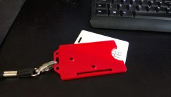 RFID smartcard with its red case